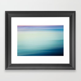 I Love the Sea Ombre Abstract Framed Art Print