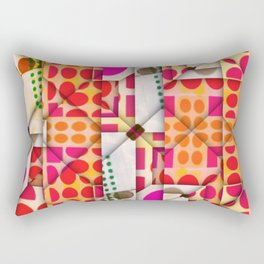 number 245  orange red pink pattern Rectangular Pillow
