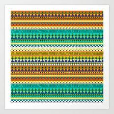 Aztec Indigo Art Print