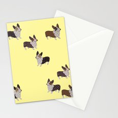 yellow corgis Stationery Cards