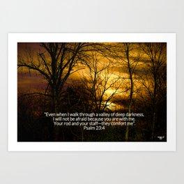 Winter's Sunset Art Print