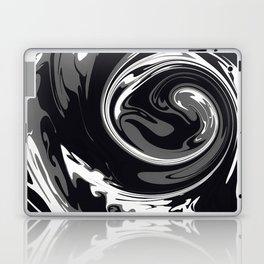 HURRICANE black white and grey swirl abstract design Laptop & iPad Skin