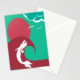 Mermaid Silhouette Stationery Cards