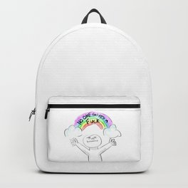 No one gives a fuck Backpack
