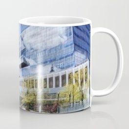 Waterplace Park, Providence Place, Superman Building, Providence, Rhode Island landscape Coffee Mug