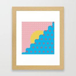 Memphis Style N°6 Framed Art Print