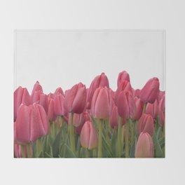 Tulips Field #7 Throw Blanket