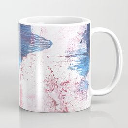 Pink blue streaked abstract Coffee Mug