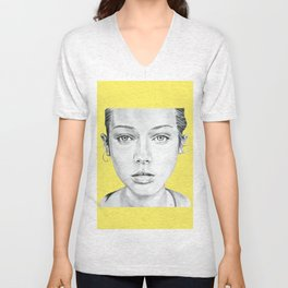 Lady Portrait Unisex V-Neck