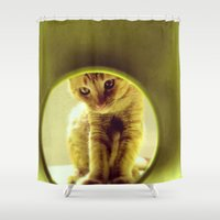 leonardo dicaprio Shower Curtains featuring LEOnardo by dorilozada
