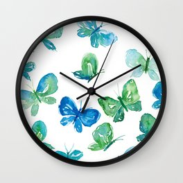 Butterflies in Flight Wall Clock