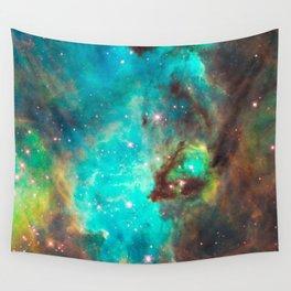 Green Galaxy Wall Tapestry