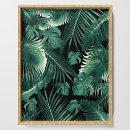 Tropical Jungle Leaves Dream #6 #tropical #decor #art #society6 Serving Tray