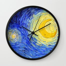 """Vincent Van Gogh """" Starry Night """" , Partial expansion Wall Clock"""