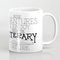 literary Mugs featuring Literary Adventures by Drop and Give Me Nerdy