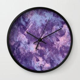 Purple texture Wall Clock