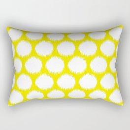 Golden Yellow Asian Moods Ikat Dots Rectangular Pillow