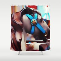 carousel Shower Curtains featuring Carousel by Noonday Design