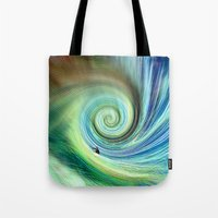 surf Tote Bags featuring Surf by  Agostino Lo Coco