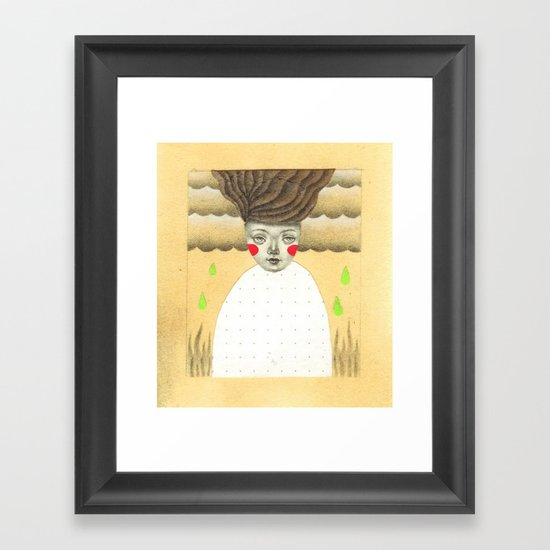 Green Rain Framed Art Print