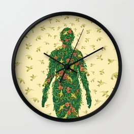 Illustrated Aviary Wall Clock