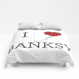 I heart Banksy Comforters