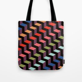 Contemporary Modern Geometric Chevron Rainbow Stripes Tote Bag