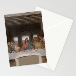 Mosaic of the Last supper of Leonardo Da Vinci Stationery Cards