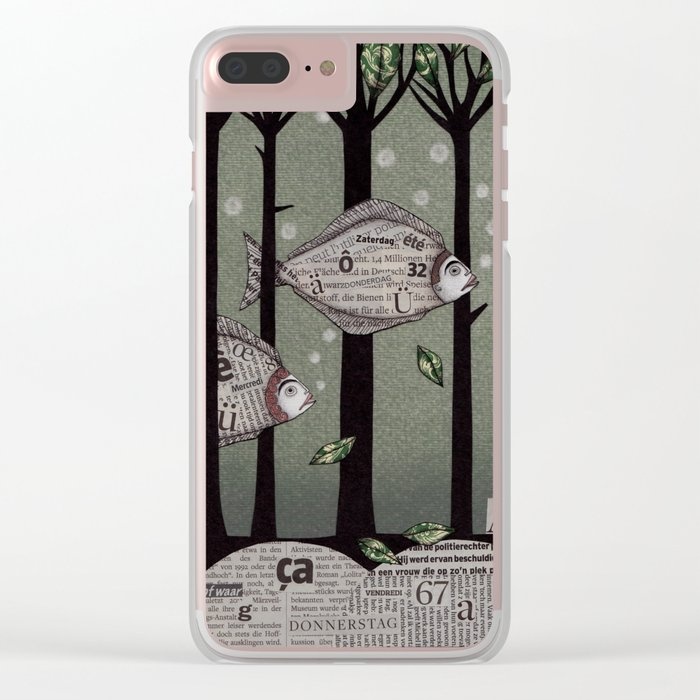 A Fishy Story Clear iPhone Case