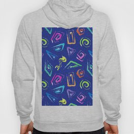 Surf Spiral Shapes in Neon Periwinkle Hoody