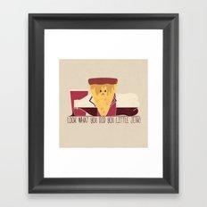 Ruined Pizza Framed Art Print