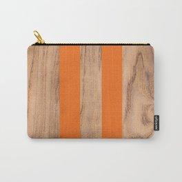 Wood Grain Stripes Orange #840 Carry-All Pouch