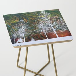 White Trees Side Table