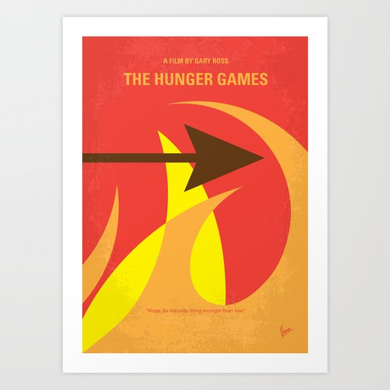 No175 My Games Hunger minimal movie poster 1 Art Print