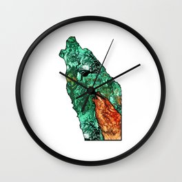 Wild Spirit Screams Illustration Wall Clock