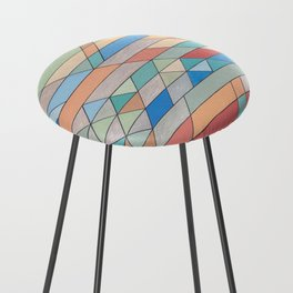 Triangle Pattern no.2 Colorful Counter Stool