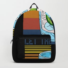 Let the Evening Be Gin Funny Gin Martini Backpack