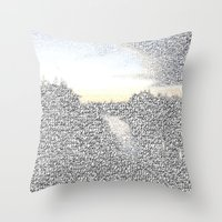 death note Throw Pillows featuring Note This by stefani187