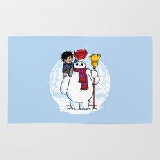 Inflatable Snowman Rug
