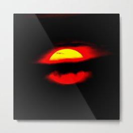 Evil Eye Sun Metal Print