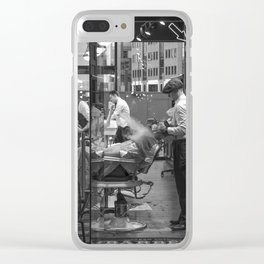 London barber - beard shave Clear iPhone Case