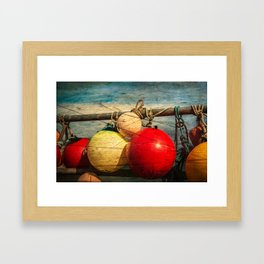 Nautical Bouys. Framed Art Print