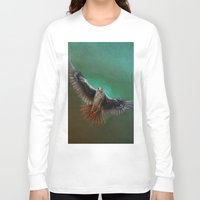 falcon Long Sleeve T-shirts featuring Falcon by ED Art Studio