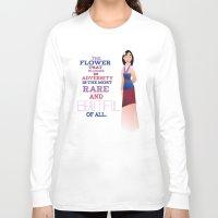 mulan Long Sleeve T-shirts featuring flower that blooms, mulan by studiomarshallarts