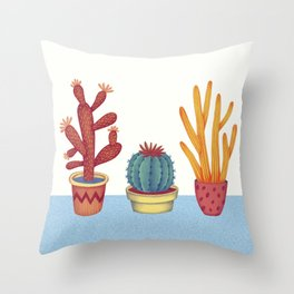 Cacti Throw Pillow