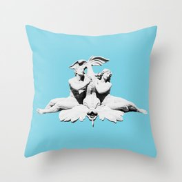 Spirit of the Ocean Fountain (Blue) Throw Pillow