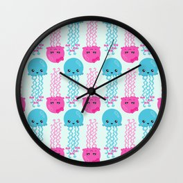 Jellyfish Pattern, Cute Jellyfish, Sea Animals Wall Clock