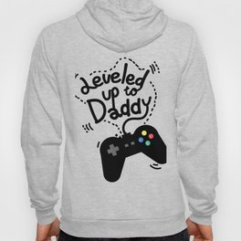 Leveled Up To Daddy Gamer Video Funny New Dad Gifts Hoody