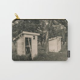 Outhouses at the Church, North Dakota 4 Carry-All Pouch