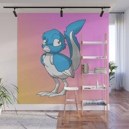Light Blue/Color-Or-Paint-Your-Own Reptilian Bird 4 #ArtofGaneneK #Animal Wall Mural
